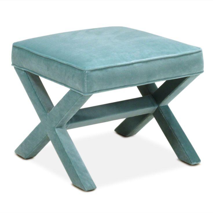 Modern Furniture | Upholstered X Bench | Jonathan Adler