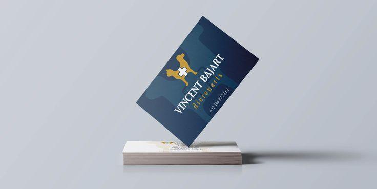 Dierenarts Vincent Bajart - Huisstijl realisatie - Communicatie en reclamebureau 2design Roeselare - Grafisch ontwerp, webdesign en apps - Huisstijl - visitekaartje, flyer