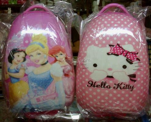 Tas Trolley Telur Sekolah Anak (Princess 3 & Hello Kitty) Import
