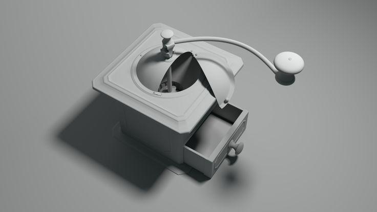 Coffee grinder. Modeled in Maya, rendered in Arnold