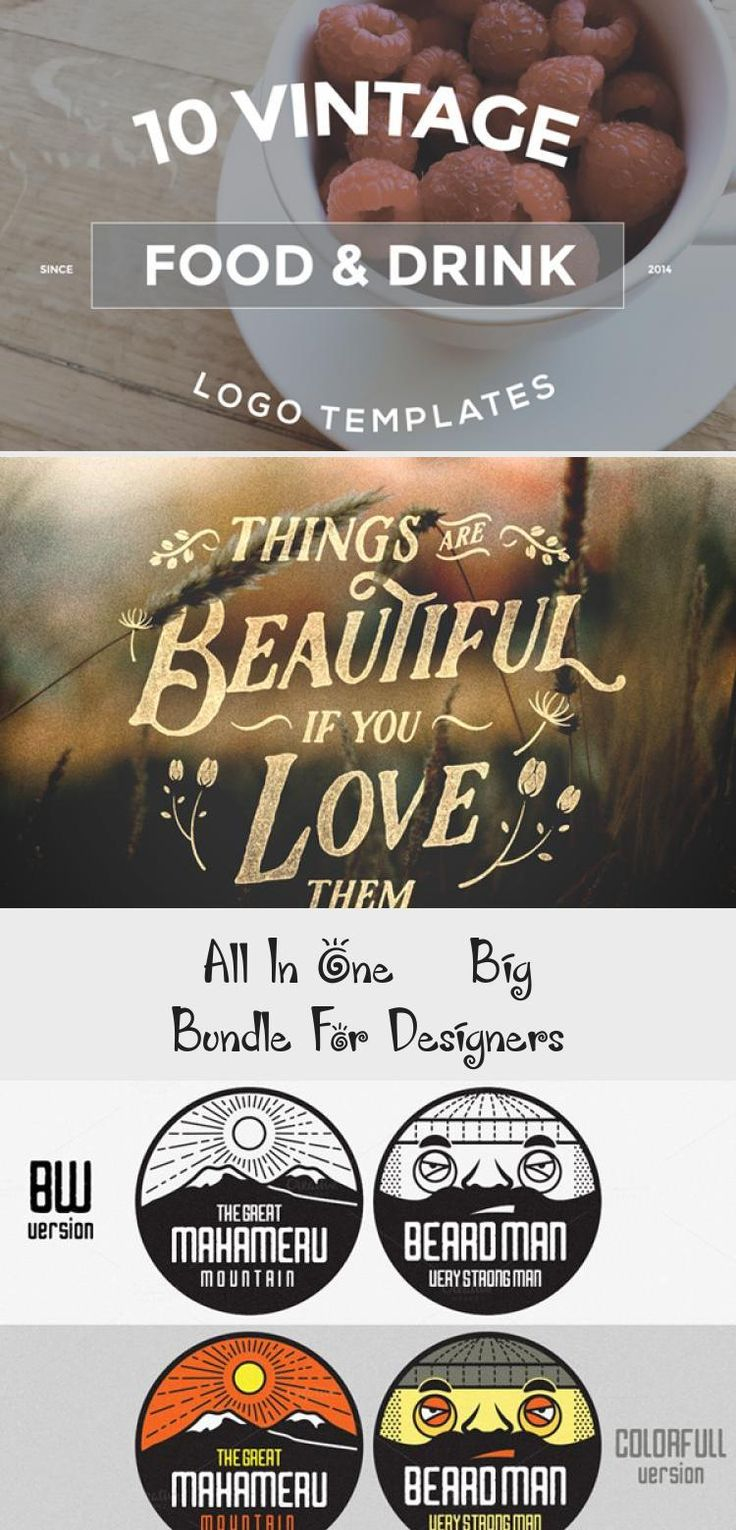 10 Food & Drink Logo Designs Bundle bigbundle