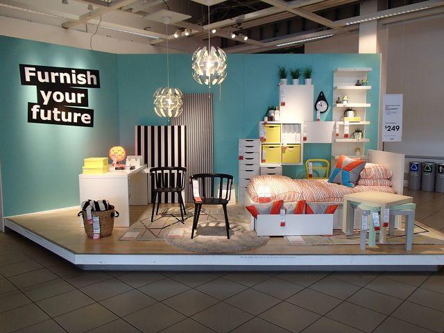 Furniture merchandising in Ikea