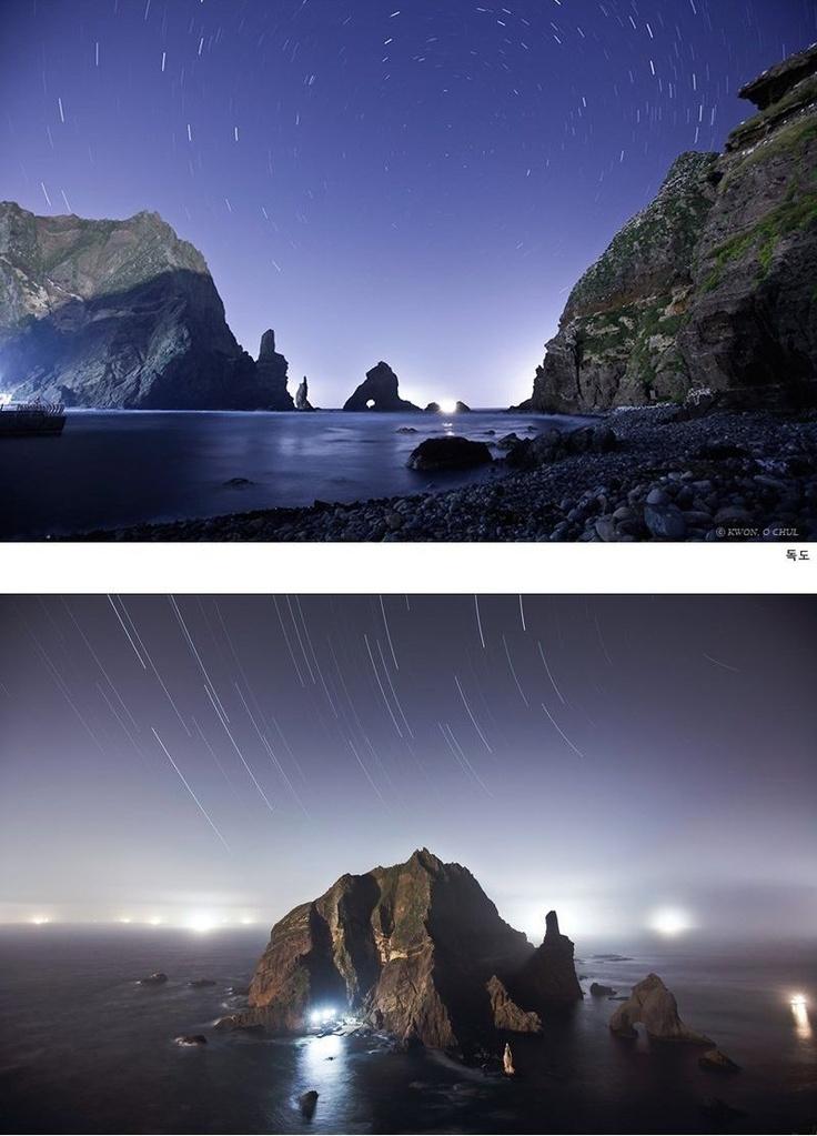 독도 Dokdo, 동해 East Sea, 대한민국 Korea.