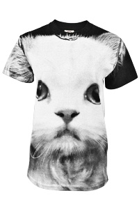 Larger Than Life Persian Cat T-Shirt at The Animal Rescue Site