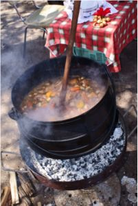 Potjiekos Stew from South Africa ( Veggies, Meat, Potatoes, spices)