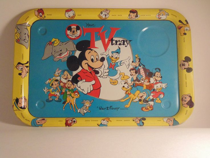 Mickey Mouse - Disney TV Serving Tray (circa 1954-55) - Vintage by CountryGardensShoppe on Etsy