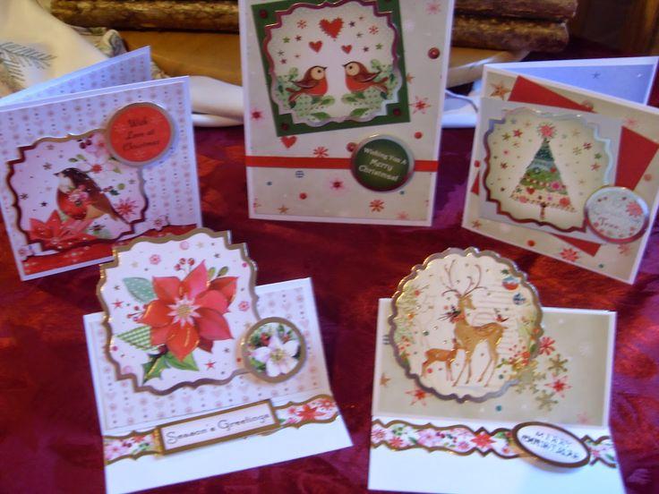 Hunkydory Christmas card kit