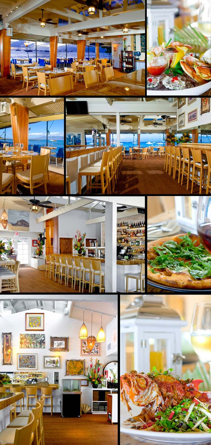 HONU - Seafood and Pizza restaurant. Good salads too. Great views on the deck - right on the water.