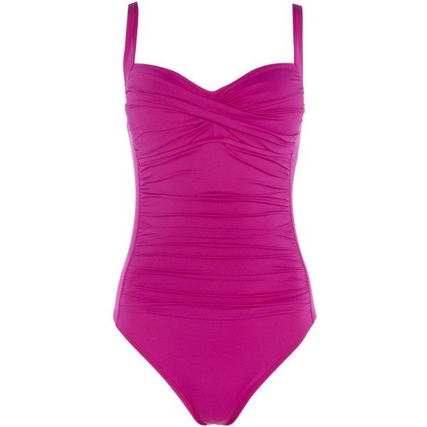 La Blanca Sweetheart neck swimsuit ($125) ❤ liked on Polyvore featuring swimwear, one-piece swimsuits, purple, women, swimsuit swimwear, purple bathing suit, la blanca, la blanca bathing suits and la blanca one piece swimsuit