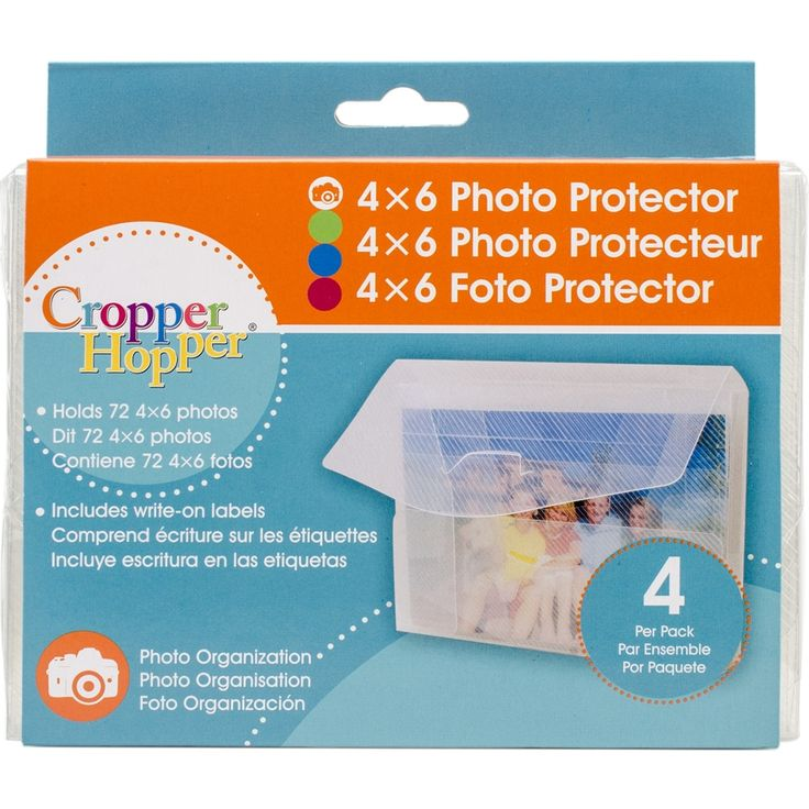 "Advantus Cropper Hopper Photo/Negative Protector 4/Pkg-4""X6"" - 4""x6"" 4""x6"""