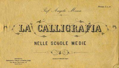 Italian penmanship and calligraphic teaching books