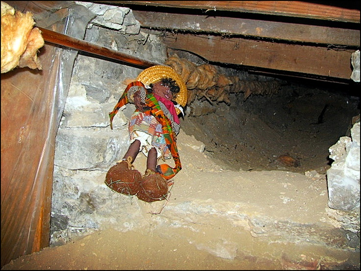Underground Railroad Pictures A Station Of The: A Doll Sits In A Tunnel Beneath Windsor's Sandwich Baptist