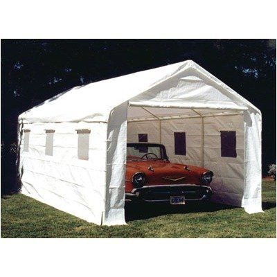 Universal Complete Enclosed Canopy by King Canopy. $349.00. White drawstring cover and a wall kit encloses the unit. 20 ft. L. The walls consist of (1) plain endwall, (1) zippered endwall, and (2) sidewalls with clear plastic windows Dimensions:. Great for camping, parties, and protection for your car. 10 ft. 8 in. W. BJ2PC Features: -White drawstring cover.-White frame.-Walls include (1) plain endwall, (1) zippered endwall, and (2) sidewalls with clear plastic window...