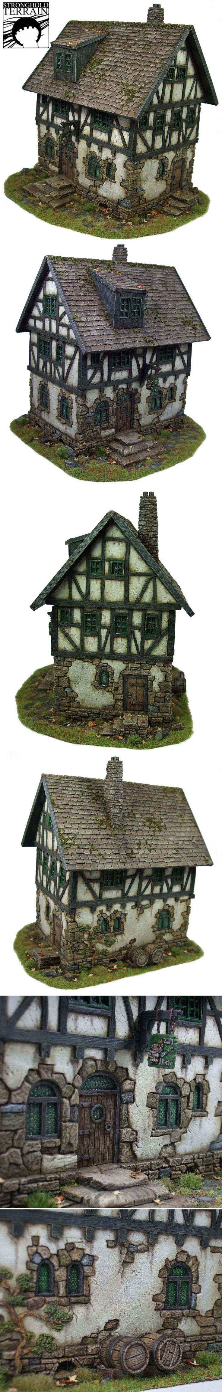 """Little """"Tudor"""" house from all sides."""