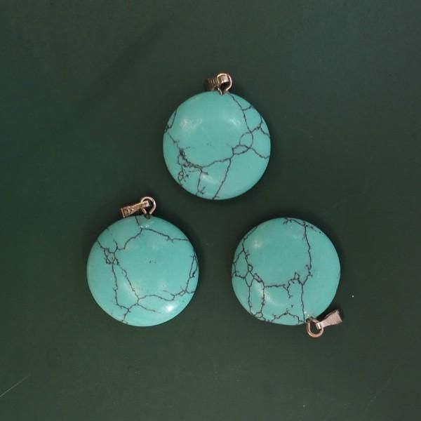 Wholesale cheap high quality charm pendan online, hair jewelry type - Find best wholesale turquoise stone round pendant stone small round charms pendants for women stone pendant 50pcs/lot free shipping at discount prices from Chinese headbands supplier - xiaofuyou2 on DHgate.com.
