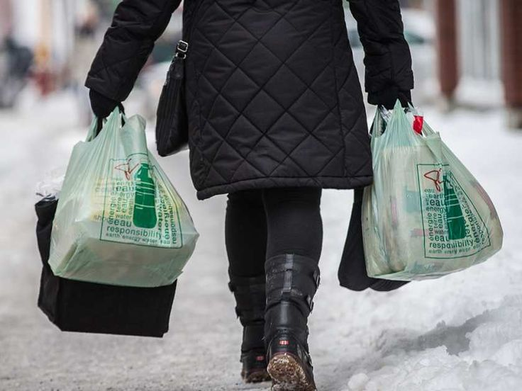 """""""In a few years, these plastic bags used by billions worldwide will be a thing of another era,"""" Mayor Denis Coderre said of the city's plan to ban them."""