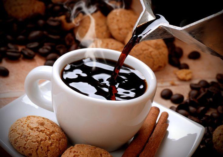 Кофе Печенье Чашка Зерна Еда