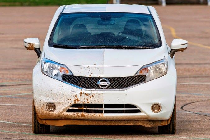 Nissan Introduces a new prototype of a car can clean itself as it is with new and unique kind of painting that can not be dirty , so it can look new all the time and it does not need to be washed ..