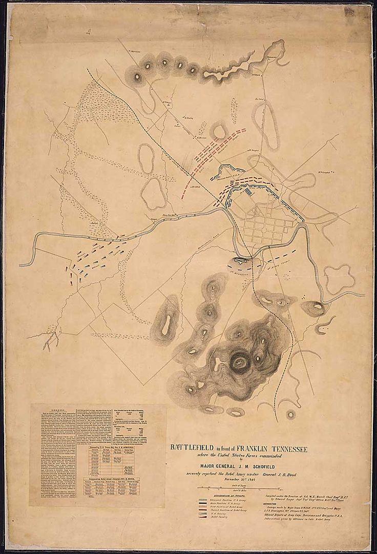 Best Franklin Tn Civil War Battle And Cemetery Us Map 1864