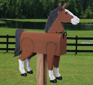 Horse Mailbox Woodcrafting Pattern Turn your plain old mailbox into this handcrafted work of art! #diy #woodcraftpatterns