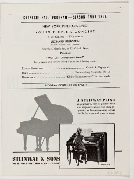 1958 Mar 08 / Young People's Concert / Bernstei...