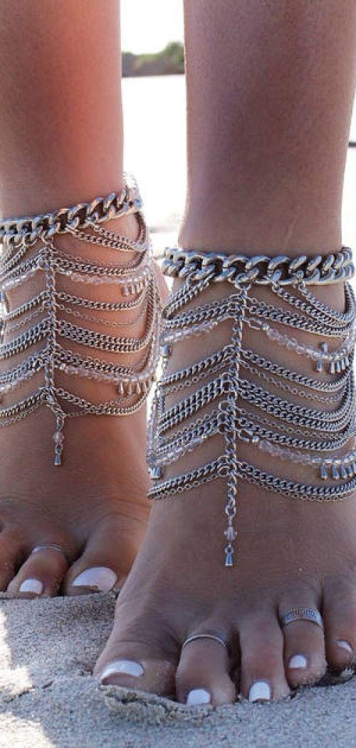 Embella Silver Boho Inspired Adjustable Band Toe Ring
