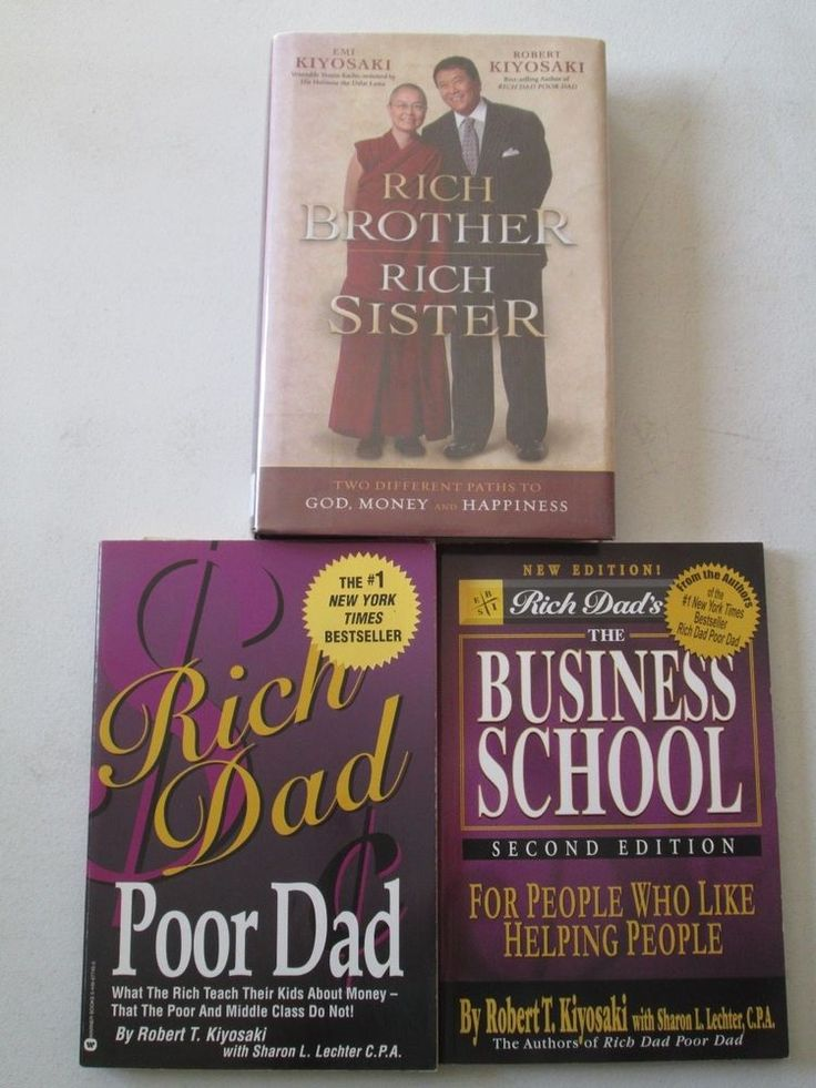 best rich dad ideas rich dad poor dad the rich  robert kiyosaki lot of 3 books rich dad poor dad business school brother sister