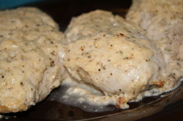 Miracle Whip Parmesan Chicken from Food.com:   								This came from a miracle whip label.  I have not made it in a long time, but I remember that it was easy and yummy. I use the thigh/leg portions when I make this.