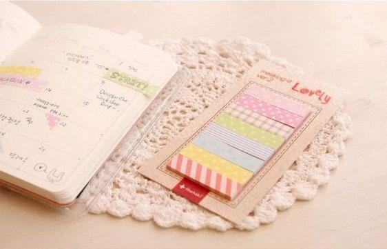 Lovely Sticky note [ Masking memo-it ] / Notepad / Memopad by DubuDumo on Etsy https://www.etsy.com/listing/171024451/lovely-sticky-note-masking-memo-it