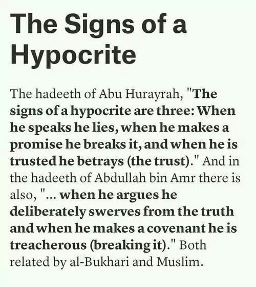 prophet Muhammad quotes on hypocrites