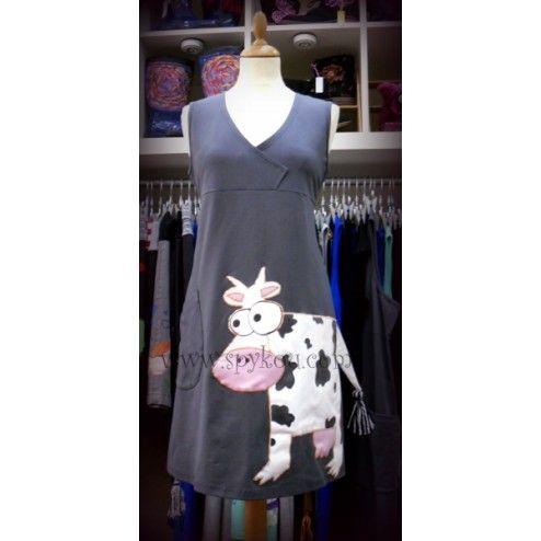 """Γυναικείο αμάνικο φόρεμα με V λαιμόκοψη """"Αγελάδα"""""""