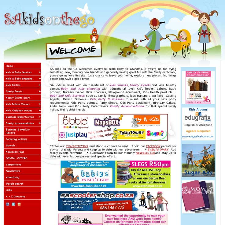 SAKidsOnTheGo.com - one of South Africa's most popular directory of stuff for kids and their parents.
