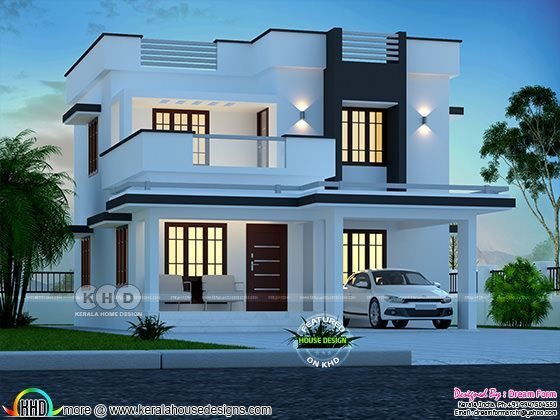 3 Bedroom 1700 Sq Ft Modern Home Design In 2020 Kerala House Design Luxury House Designs Duplex House Design