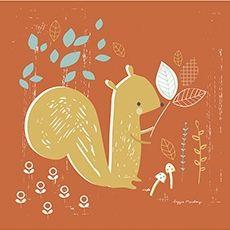 Tableau enfant thème forêt l'écureuil