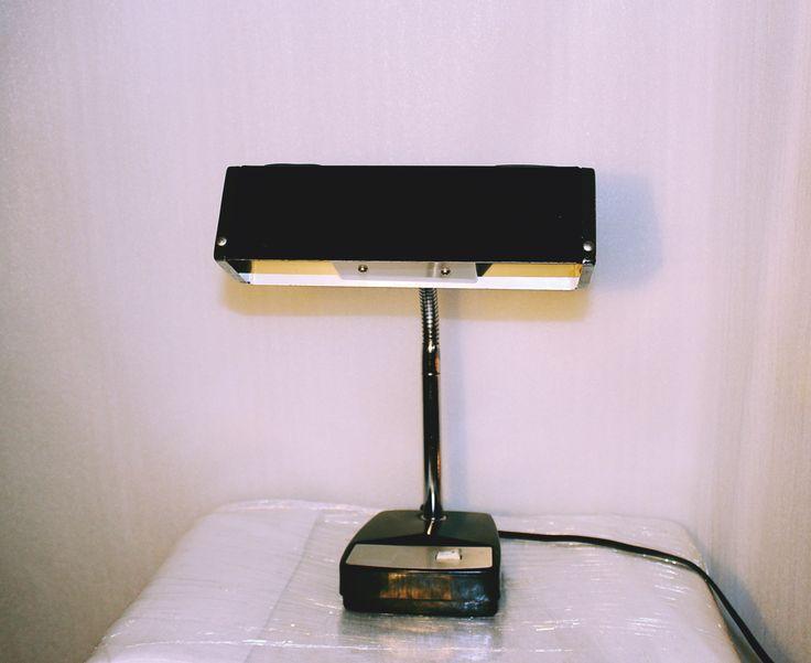 Vintage 60s Mobilite Desk Lamp, Black Lacquor and Chrome, Mod Cool Desk Lamp , - 169 Best LAMPS LAMPS VINTAGE TABLE LAMPS Images On Pinterest