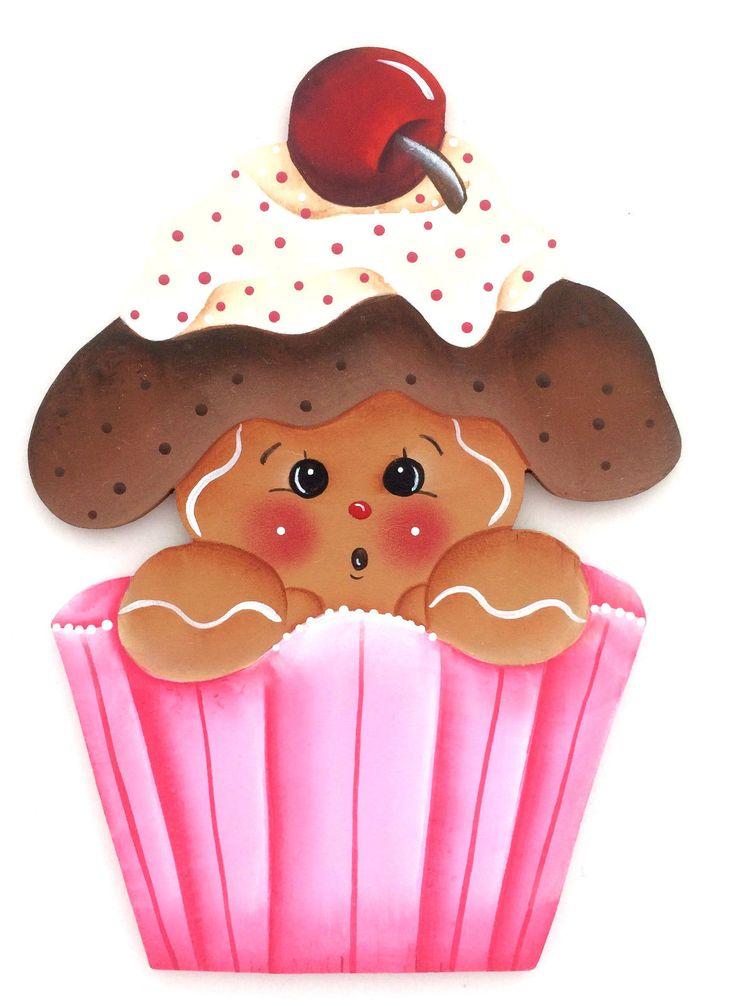 Hp Gingerbread Fridge Magnet Pink Cupcake Ebay