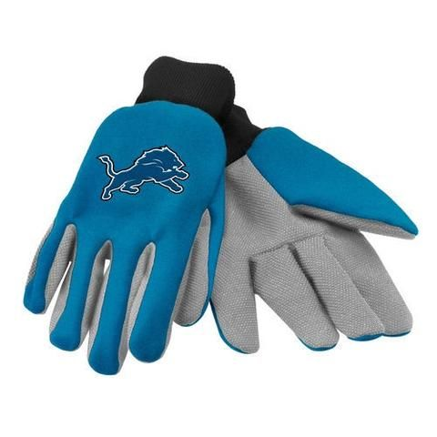 NFL Detroit Lions Colored Palm Men's Utility Gloves