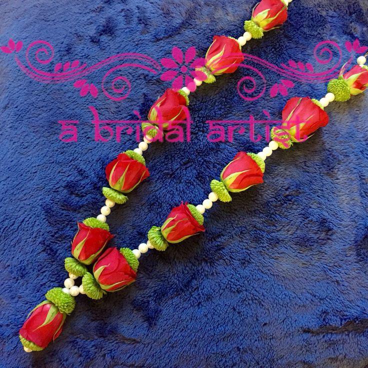 Exquisite designer wedding garland (jaimala / haar / varmala) made from fresh…