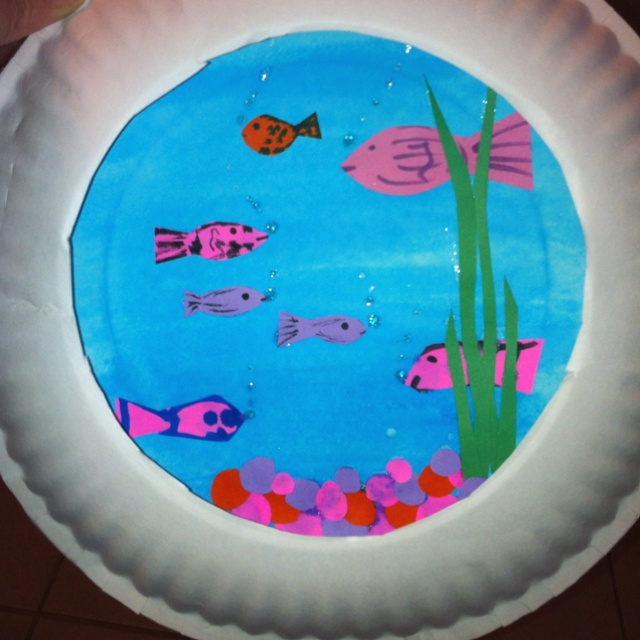 Fish bowl craft for kids kids pinterest craft for Fish bowl craft
