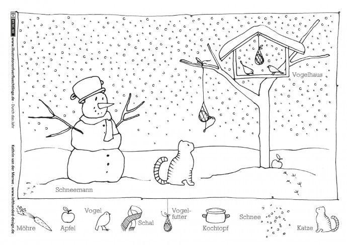 die besten 25 ausmalbilder winter ideen auf pinterest
