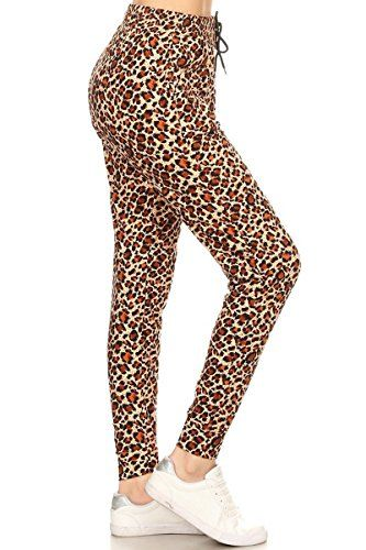 6bb3472d14e2e Leggings Depot Premium Jogger Women s Popular Printed High Waist Track Yoga  Full Pants (S-XL)