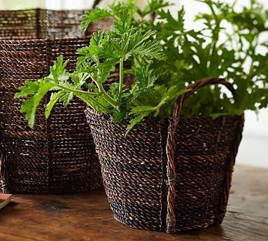 Perry Dark Baskets #potterybarn