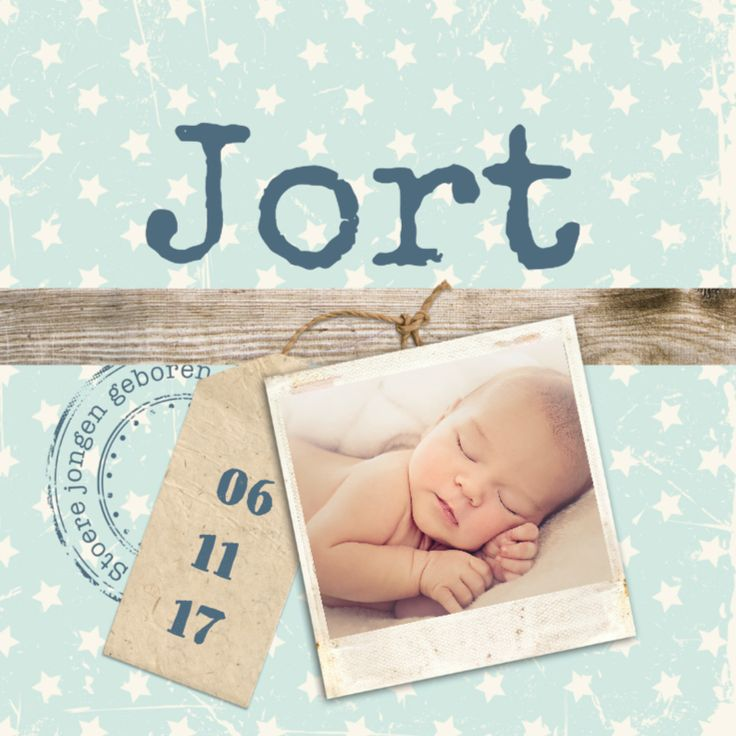 Geboorte foto jort - B - Geboortekaartjes - Kaartje2go