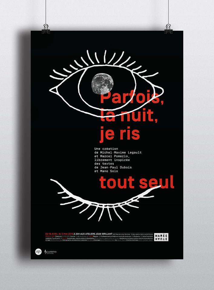 Affiche de Maxime David pour le Théâtre de la Marée Haute