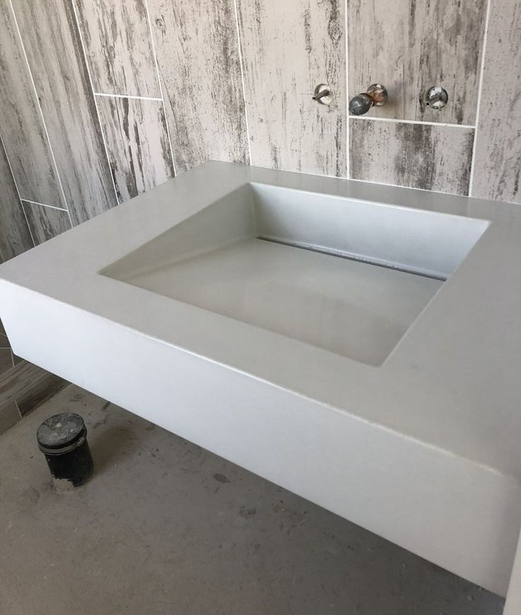 Concrete Sink Quot Ramp Quot Made To Order In 2019 Home Decor