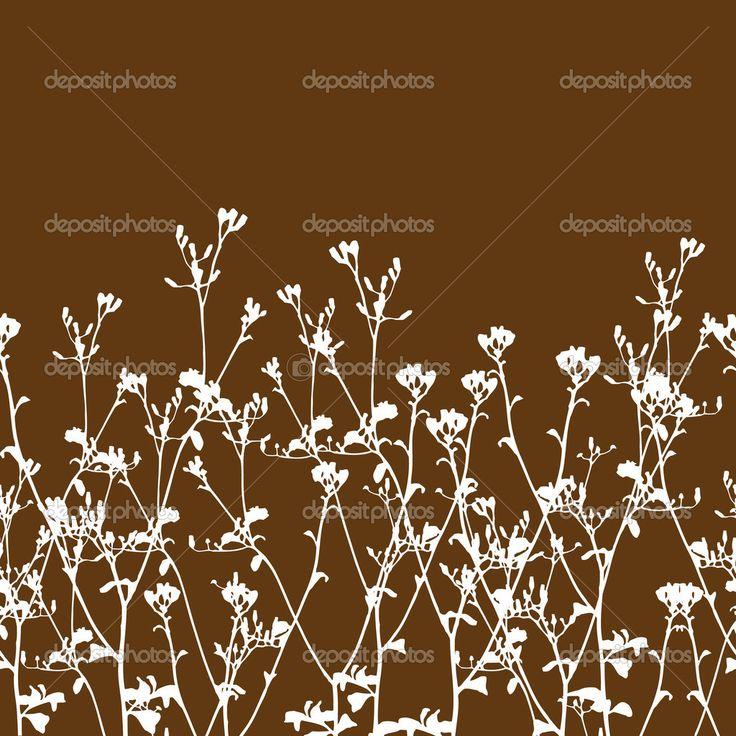 Иллюстрации диких цветов и филиал изолированные вектора