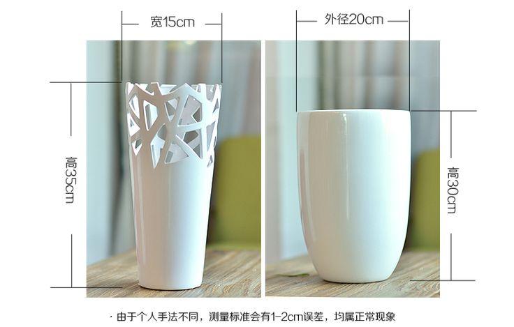 СТРОИТЕЛЬСТВО полые керамические вазы цветочные горшки современный минималистский стиль гостиной настольные украшения декоративные изделия ручной работы -tmall.com Lynx