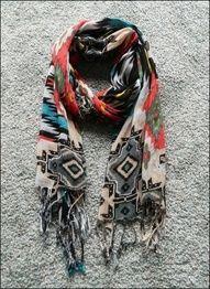 Tribal Print Scarf. So stylish