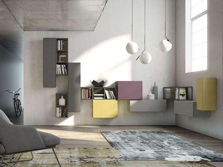 16 best pareti attrezzate images on pinterest   tv walls, tv ... - Soggiorno Parete Attrezzata Moderna
