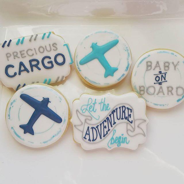 #preciouscargo #airplanes #lettheadventurebegin #babyshower #partyfavors #customcookies #decoratedcookies #cookiesinchicago